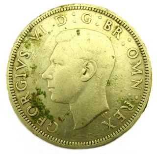 George VI half crown 1938 obv