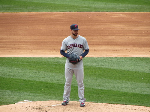 Corey Kluber looks into home plate. by rchdj10, on Flickr