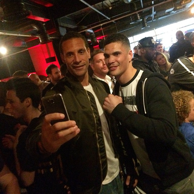 Rare RIO FERDINAND & Anthony Ogogo WWE Raw Selfie