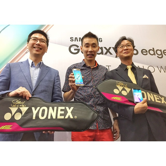 Dato LEE CHONG WEI and the big guns from Samsung at the Samsung Galaxy S6 and S6 edge consumer launch today at The Gardens!   #isaactan #samsung #myGalaxyS6 #myGalaxyS6edge #event #technology #tech #blogger #yonex
