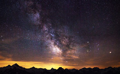 Milky Way Panorama (Jamani Caillet) Tags: panorama mars mountain mountains alps montagne alpes canon way stars landscape star schweiz switzerland nightscape suisse hiking swiss dent tokina galaxy astrophotography stitching saturn mm blanche paysage milky wallis etoile starry galaxie constellation voie toiles valais montagnes etoiles starrynight swissalps milkyway randonne 1755 starscape 1116 saturne lacte