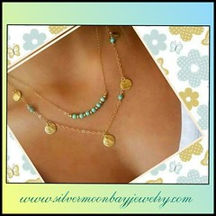 necklace (SilverMoonBay) Tags: multichain necklace jewelry gorgeous trendy jewelryforless jewelrydeals jewelrysales discountjewelry opensky trendyjewelry affordablejewelry giftideas jewelrygifts turquoise turquoisejewelry layerednecklaces