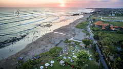 Crowds head to the beach to catch a Bali sunset. (wrightontheroad) Tags: balibeach canggu kuta beachbar beanbags northkuta bali indonesia