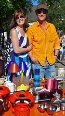 Flea-market, just for fun (Mika Lehtinen) Tags: summer people color fun outdoors happy stand market summertime flea selling