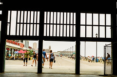 on the boardwalk (mfauscette) Tags: 35mm fsc ishootfilm istillshootfilm kodak kodakportra800 nikon nikonf6 analog asburypark beach boardwalk film filmisnotdead filmshooterscollective jerseyshore street