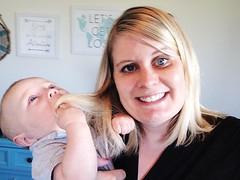 I think he approves of Mama's haircut.  #teddythrall #momlife (Marla Thrall) Tags: life