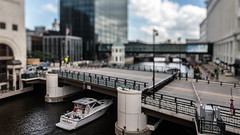Rich People Holding Up Traffic in the Itty-Bitty-City (Sharky.pics) Tags: urban city wisconsin tiltshift july cityscape 2016 miniature milwaukee downtown