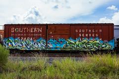 (o texano) Tags: houston texas graffiti trains freights bench benching demos mfk