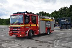 R436 YDT (markkirk85) Tags: fire engine appliance dennis sabre carmichael national emergency service museum ex derbyshire rescue r436 ydt r436ydt
