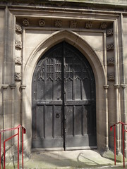 West Door, Leicester Cathedral (Aidan McRae Thomson) Tags: leicester cathedral leicestershire door medieval woodwork