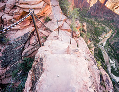 Stairs and Chain on Angel's Landing Trail, Zion (mfenne) Tags: park leica stairs landscape images landing trail national angels marlowe zion steep fenne drala