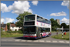 33155 (LR02 LXO) Mulbarton (Jason 87030) Tags: pink houses light sky sun signs green clouds work nice pretty village purple transport norfolk barbie july first sunny directions norwich vehicle 37 dennis purpleline cottages trident 2016 hellesdon 33155 mulbarton lr02lxo