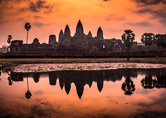 Good morning (www.chrisbirds.com) Tags: cambodia angkorwat sunrise travel wwwchrisbirdscom chrisbird sky temple ruins old