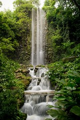 Waterfall (ivnseow) Tags: park wild man bird nature forest landscape waterfall singapore made jungle tropical jurong
