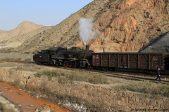 I_B_IMG_8091 (florian_grupp) Tags: asia china steam train railway railroad bayin lanzhou gansu desert landscape loess mountains sy ore mine 282 mikado steamlocomotive locomotive