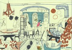 (bogema) Tags: restaurant sketch saintpetersburg   georgiancuisine