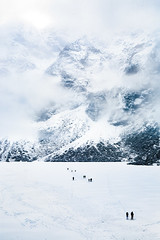 The Wall (bstarzec) Tags: rocky mountains mountainside fog tatra winter snow snowy landscape vertical monumental