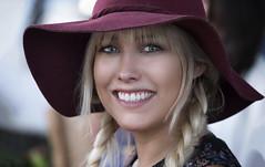 Maroon Hat Girl (Jim-Mooney) Tags: street photography people portrait kansascity fuji xt1 fujinon 50140mm candid