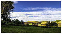 Shedding Light II (keith_shuley) Tags: blue green colors washington colorful farm farming yelllow palouse easternwashington olympusomdem1