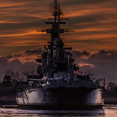 Battleship North Carolina (mcgreevymike) Tags: ship battleship boat river