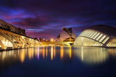 Valencia (Anto Camacho) Tags: valenciancommunity valencia calatrava bluehour longexpoure buildings cityscape cac night clouds reflections architecture arquitectura
