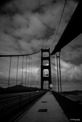Limb by limb (.KiLTRo.) Tags: sanfrancisco california unitedstates kiltro blackandwhite bridge goldengate bay clouds sky architecture