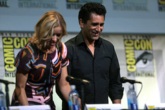 Kim Dickens & Cliff Curtis (Gage Skidmore) Tags: dave erickson alpert greg nicotero robert kirkman gale anne hurd colman domingo kim dickens cliff curtis frank dillane mercedes mason alycia debnam carey lorenzo james henrie danay garcia fear walking dead amc san diego comic con international california convention center