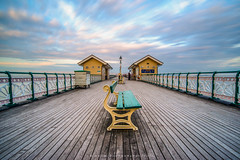 Penarth Pier Fence | Wales (w.mekwi photography [here & there]) Tags: penarthpier longexposure lamppost leadin sunset benches tinternabbey hff fencefriday outdoors wood wales wmekwiphotography nikond800 uk