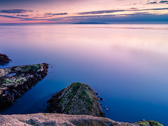 Quiet Sunrise (Pekko Ahlsten) Tags: nikon nikond7000 dublin ireland dunlaoghaire thefortyfoot landscape landscapes longexposure tokina1116mm sea seascape sunrise sky clouds beautiful beach quiet morning earlymorning colours colors travel travelling travelphotography reflections reflection