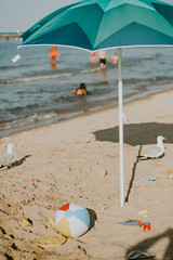 North Avenue Beach, street photography. (blakepleasant) Tags: beach chicago travel leisure water lake summer august street person people bird sun daylight swimming waves streetphotography