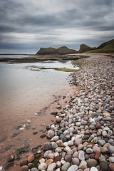 Carlingheugh Bay (Neillwphoto) Tags: carlingheugh bay beach shore coast pebbles stones rocks cliffs arbroath seaton northsea clouds stormy