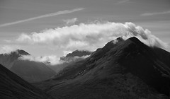 Clouds over the Cuillin (mattwells1986) Tags: scotland landscape munro mountain nikon d7100 cloud outdoor sky mountainside isle skye isleofskye inner hebrides cuillin black scottish mono monochrome white blackandwhite