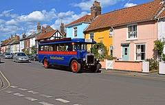 Ermintrude at Aldeburgh, on the days final run from Thorpeness. 07 08 2016 (pnb511) Tags: aldeburgh eastanglia suffolk coastal england heritage coast vehicle singlecabbus bucklandomnibusco dennis bus coach