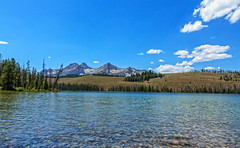 Little Redfish Lake (http://fineartamerica.com/profiles/robert-bales.ht) Tags: forupload haybales idaho lake people photo places projects scenic stanleyarea states rockymountains water sawtoothmountains nature horizontal peaks salmonriver wildness rockies stanley beauty nationalforest pristine thompsonpeak panoramic landscape awesome magnificent peaceful surreal sublime magical spiritual inspiring inspirational canonshooter dramtic emotion environment environmental evergreen feeling blue superb tranquil custercounty americanalps reflection mountains