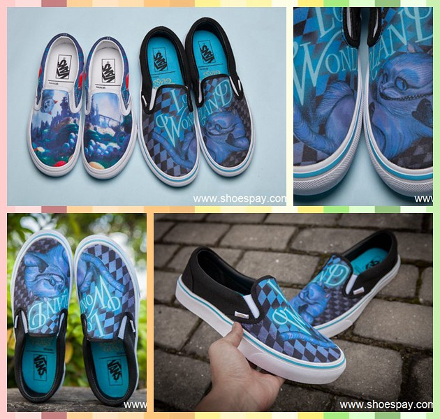 "18950dc3ca Disney x Vans ""Chesire Cat quot -Alice s Adventures in Wonderland  (shoespay) Tags. Vans X timrobot ..."
