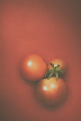 Three Cherry Tomatoes (ScottNorrisPhoto) Tags: fruit vegatable red tomato tomatoes cherry grape trio three stilllife tabletop food kitchen cook cooking fresh garden homegrown ripe harvest 365project photooftheday photoaday explore photography scottnorrisphotography wisconsin usa