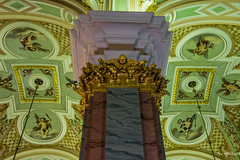 2016 - Baltic Cruise - St. Petersburg - Cathedral of Saints Peter and Paul (Ted's photos - For Me & You) Tags: 2016 cropped tedmcgrath tedsphotos vignetting russia ussr stpetersburg cathedralofsaintspeterandpaul church ceiling pilar