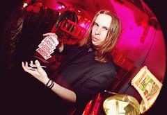 2010-04-14 Card tricks ([Ananabanana]) Tags: d40 nottingham nottinghamshire notts gimp photoscape uk unitedkingdom 1855mm 1855 nikkor nikon1855mmkitlens nikon1855mm nikonafsdx1855mm nikkor1855mm nikkorafsdx1855mm club clubbing music dancing drinking drunk electricbanana bodega bodegasocialclub the social student students banana drinks bar gig people young fisheye converter optekafisheyeconverter opteka035xfisheyeconverter optekafisheye opteka clubphotography clubphotographer nightclubphotography nightclubphotographer fisheyeportrait portrait cartoon nikonistas nikonista card cards cardtrick cardtricks magic magictrick magictricks magician magicshow thesocial