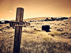 state of the union(st.)... (BillsExplorations) Tags: union unionstreet street road ghosttown gold goldrush mine abandoned decay forgotten bodiehistoricdistrict bodiestatepark vintage old california sepia nationalregisterofhistoricplaces slide slidersunday