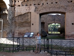 Catherine at the Baths of Caracalla (markhorrell) Tags: rome romanantiquities baths caracalla