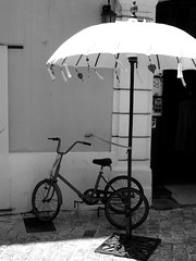 Shady Cycle, Leica V-Lux 20 (marcus.webb) Tags: tricycle cycle street urban leica
