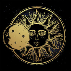 bigstock-Vintage-hand-drawn-sun-eclipse-116592731 (Clairvoyant8) Tags: aged alchemy astrology astronomy boho celestial cosmos crescent design drawing drawn eclipse element esoteric face galaxy geometric gold golden icon illustration isolated lunar magic medieval moon mystic mythical nature night occult orbit pagan planet print ray sign sky solar space spiritual star sun symbol tattoo universe vector vintage wallpaper witchcraft