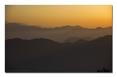 IMG_2000 (AnilGoyal Pixelart) Tags: sunset sun india mountain mountains tourism yellow sunrise landscape dawn indian flare layers rays bluehour himalayas lansdowne uttarakhand challengeyouwinner kaludanda