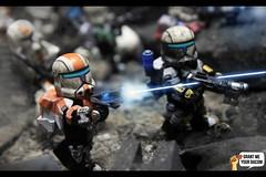 Suppressive Fire (Grant Me Your Bacon!) Tags: boss star republic lego delta battle sev wars squad clone spec ops commando scorch fixer