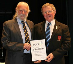 John Blight, LGB receiving the 50 years long service award