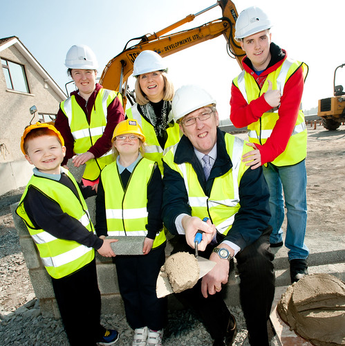 John O'Dowd pictured at the sod-cutting for Knockevin Infants Centre, Dundrum