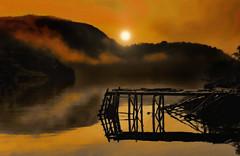 Early morning in Gaultois copy 3 (Rick Gravelle) Tags: fog sunrise newfoundland fishing dock nikond70 earlymorning nik topaz iphotooriginal outport gaultois dragondaggeraward bestofblinkwinners southcoastofnewfoundland