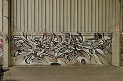 _ (Re PiEd) Tags: white black graffiti noir spray blanc dely spazm smerg antistak