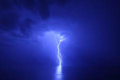 Ride the Lightning (maurocastro) Tags: ocean chile blue light sky storm southamerica night clouds canon mar nubes tormenta 5d lightning valparaíso pacífico océano relámpago sudamérica anawesomeshot