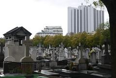 Montparnasse Cemetery (crystalseas) Tags: paris montparnasse cemetery grave building trees outdoor